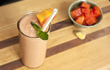 Papaya Gember Smoothie_vb