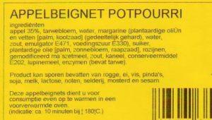 Ingredientenlijst